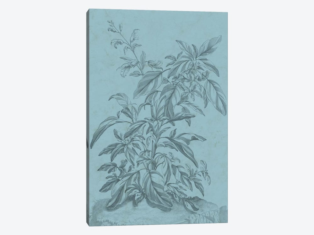 Botanical On Teal III 1-piece Canvas Art Print