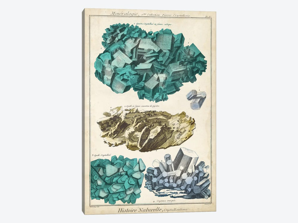 Mineralogie I by Vision Studio 1-piece Canvas Print