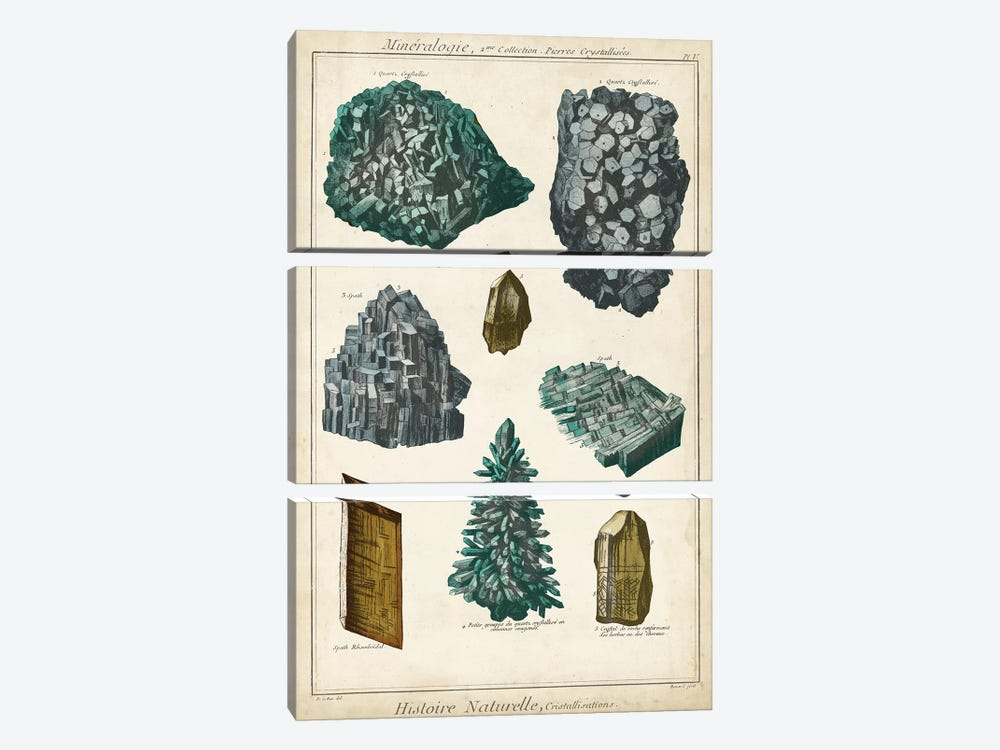 Mineralogie II by Vision Studio 3-piece Canvas Art Print