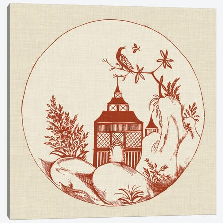 Ornamental Pagoda I Canvas Print #VSN348} by Vision Studio Art Print