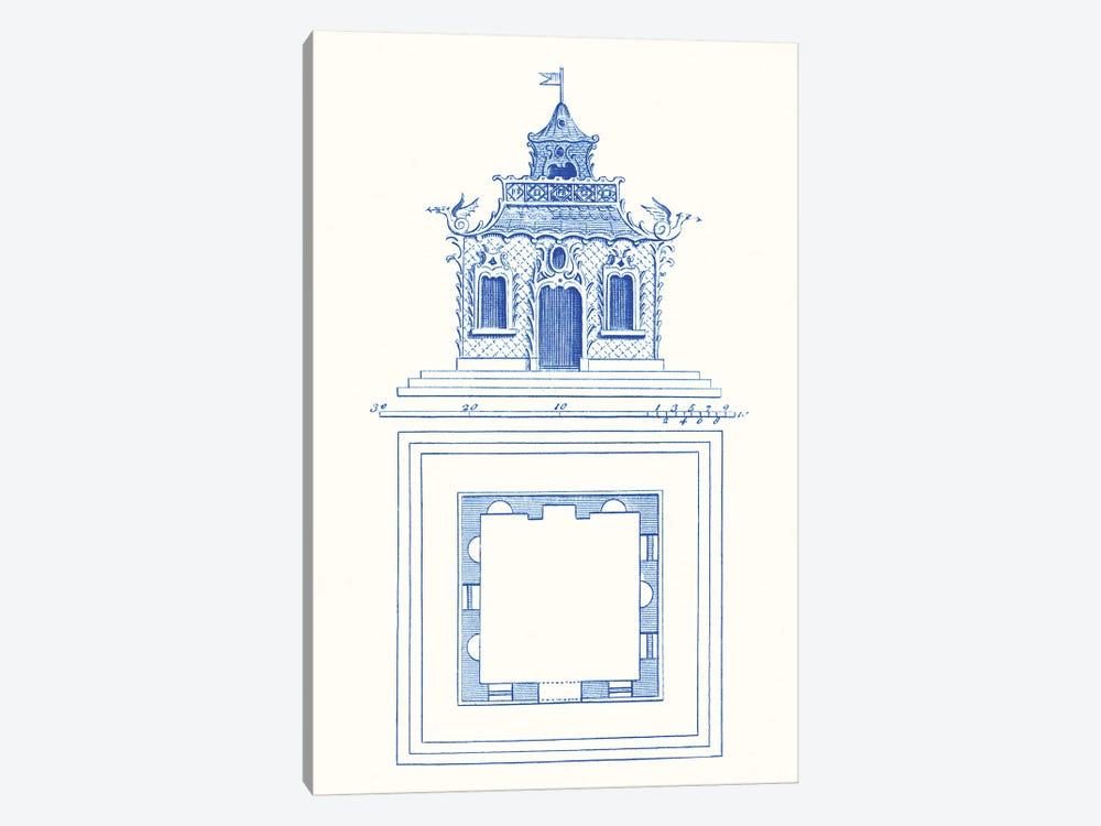 Pagoda Design I by Vision Studio 1-piece Art Print