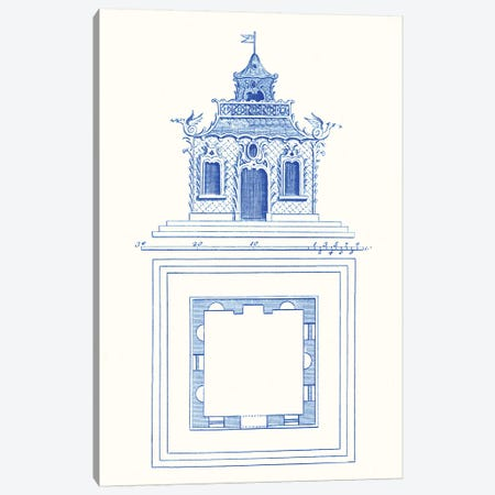 Pagoda Design I Canvas Print #VSN351} by Vision Studio Canvas Wall Art