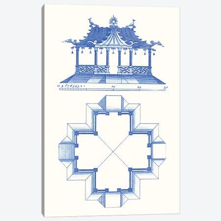 Pagoda Design II Canvas Print #VSN352} by Vision Studio Canvas Artwork