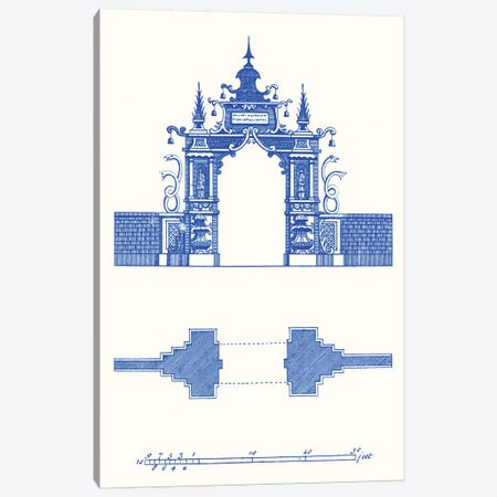 Pagoda Design III Canvas Print #VSN353} by Vision Studio Canvas Art
