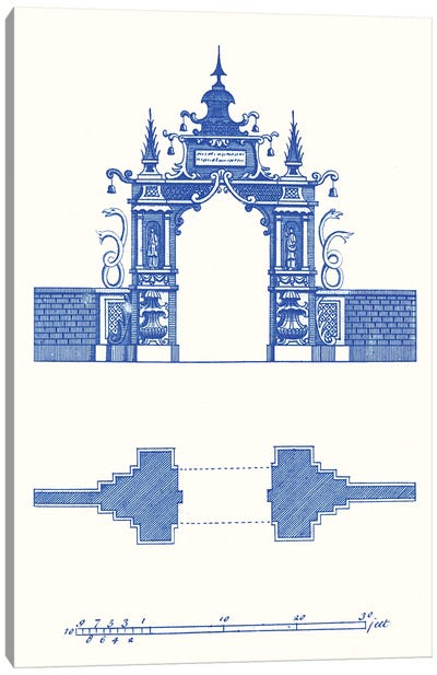 Pagoda Design III Canvas Art Print