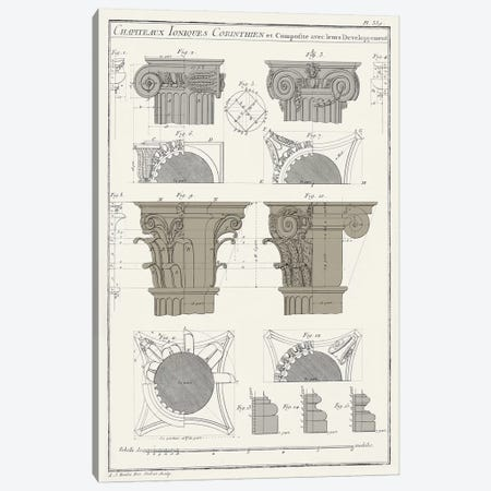 Survey Of Architectural Design IV 3-Piece Canvas #VSN372} by Vision Studio Canvas Artwork