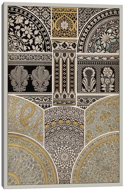 Ornament In Gold & Silver I Canvas Print #VSN38