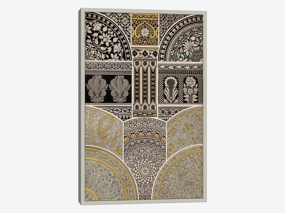 Ornament In Gold & Silver I by Vision Studio 1-piece Canvas Art Print