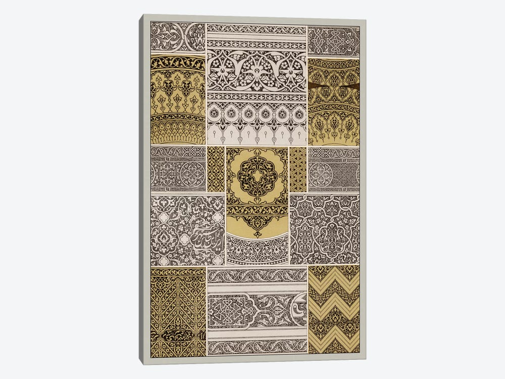 Ornament In Gold & Silver II by Vision Studio 1-piece Canvas Wall Art