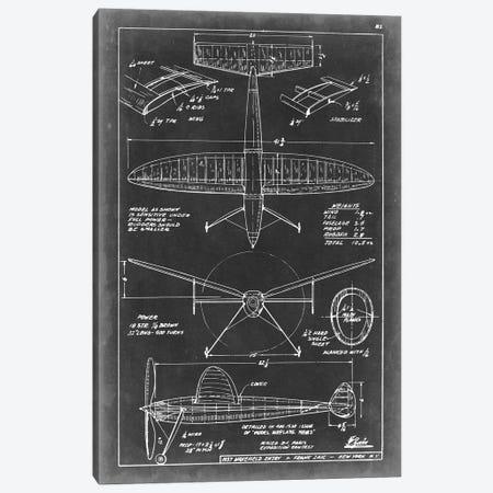 Aeronautic Blueprint III Canvas Print #VSN3} by Vision Studio Canvas Art Print