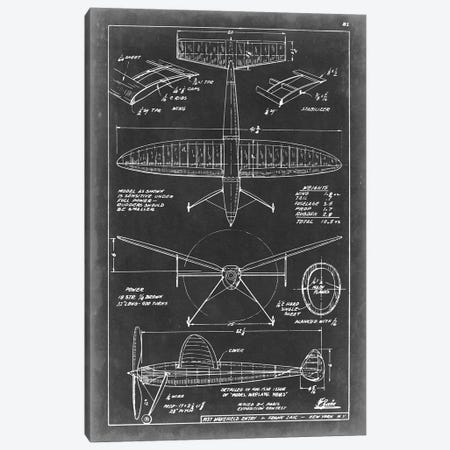 Aeronautic Blueprint III Canvas Print #VSN3} by Vision Studio Canvas Art Print