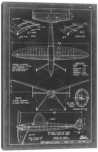 Aeronautic Blueprint III Canvas Art Print