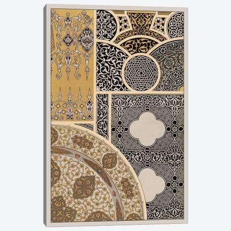 Ornament In Gold & Silver III Canvas Print #VSN40} by Vision Studio Canvas Art