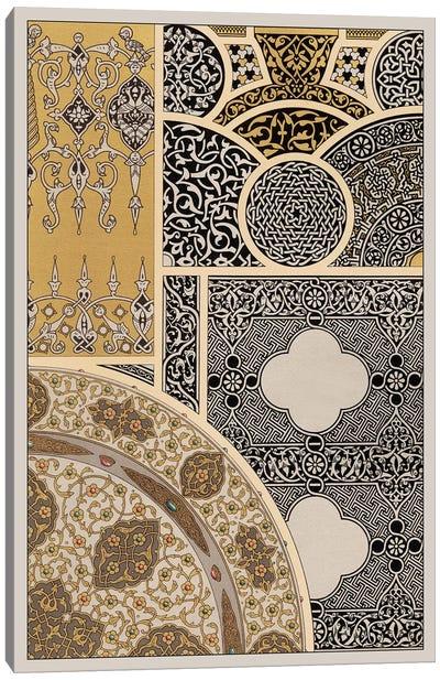Ornament In Gold & Silver III Canvas Print #VSN40