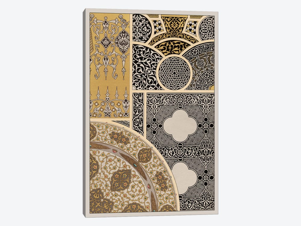 Ornament In Gold & Silver III 1-piece Canvas Artwork