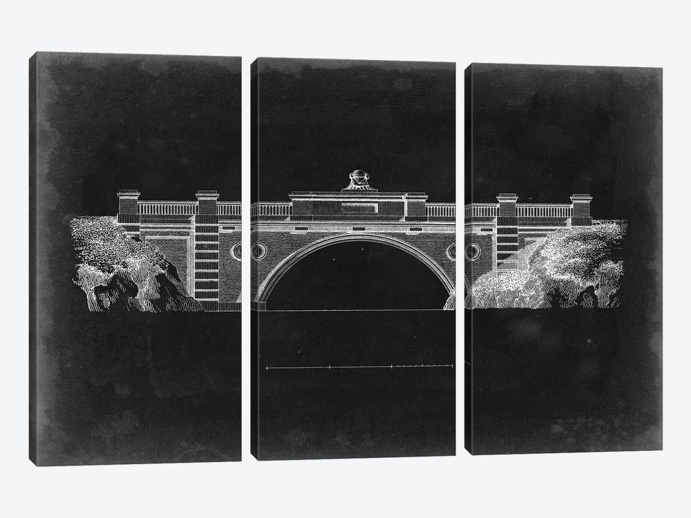 Bridge Schematic II by Vision Studio 3-piece Canvas Art Print