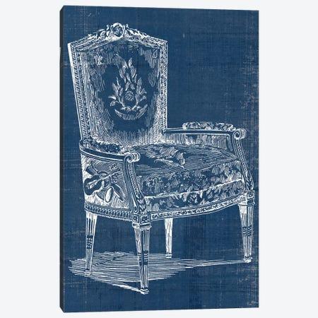 Antique Chair Blueprint I Canvas Print #VSN499} by Vision Studio Canvas Art Print