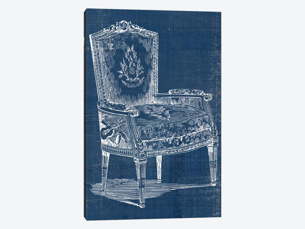 Antique Chair Blueprint I by Vision Studio 1-piece Canvas Artwork