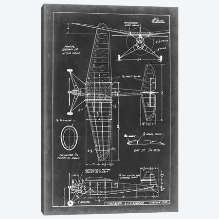 Aeronautic Blueprint IV Canvas Print #VSN4} by Vision Studio Canvas Artwork