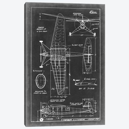 Aeronautic Blueprint IV Canvas Print #VSN4} by Vision Studio Canvas Artwork