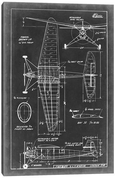 Aeronautic Blueprint IV Canvas Art Print