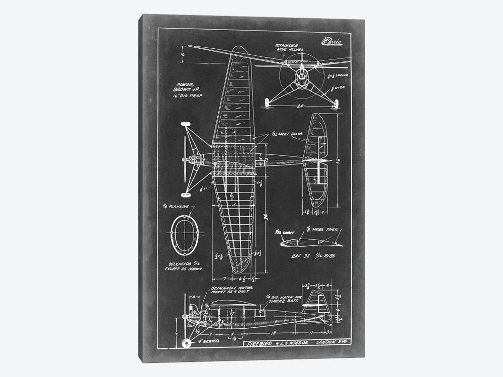 Aeronautic Blueprint IV by Vision Studio 1-piece Canvas Art