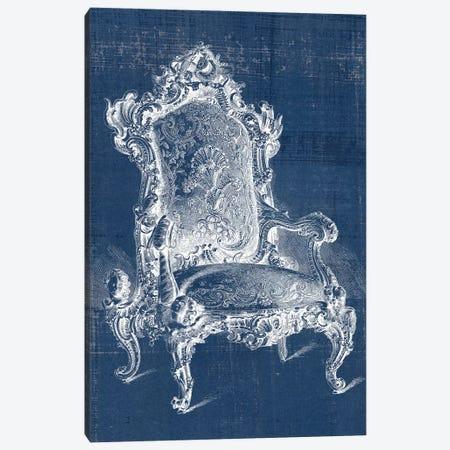 Antique Chair Blueprint II Canvas Print #VSN500} by Vision Studio Canvas Art Print