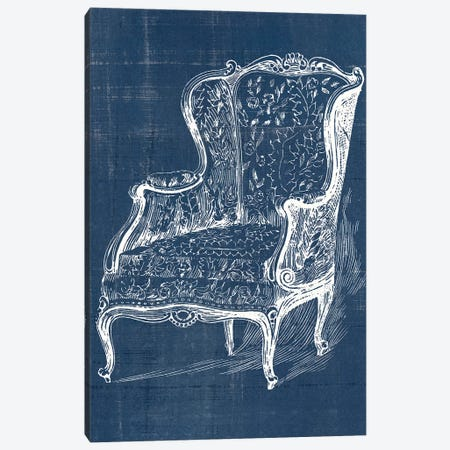 Antique Chair Blueprint III Canvas Print #VSN501} by Vision Studio Canvas Print