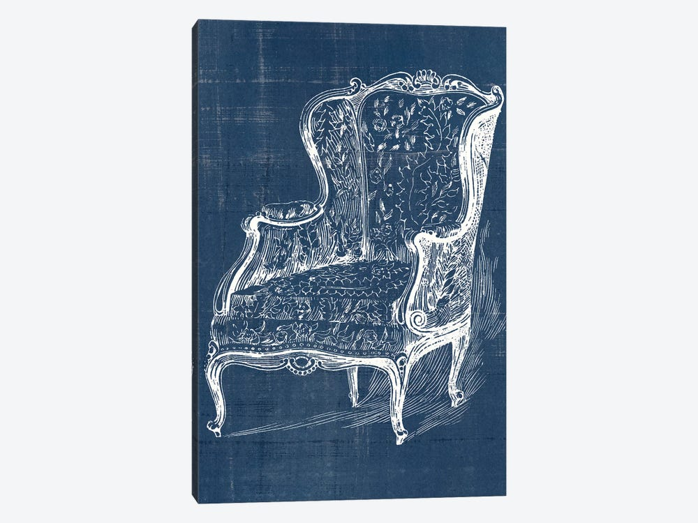 Antique Chair Blueprint III by Vision Studio 1-piece Canvas Wall Art