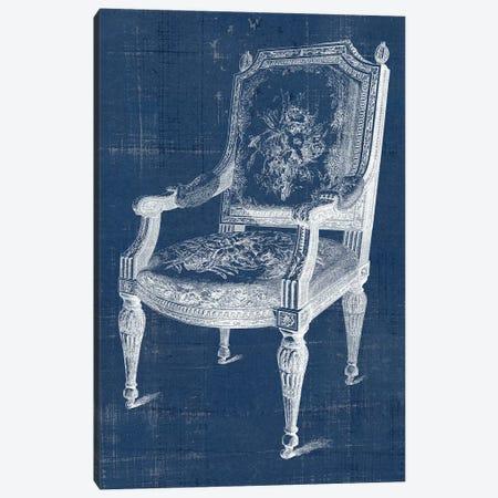 Antique Chair Blueprint IV Canvas Print #VSN502} by Vision Studio Canvas Art Print