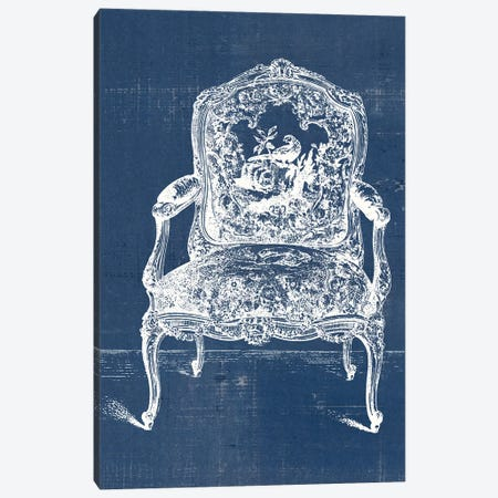 Antique Chair Blueprint V Canvas Print #VSN503} by Vision Studio Art Print