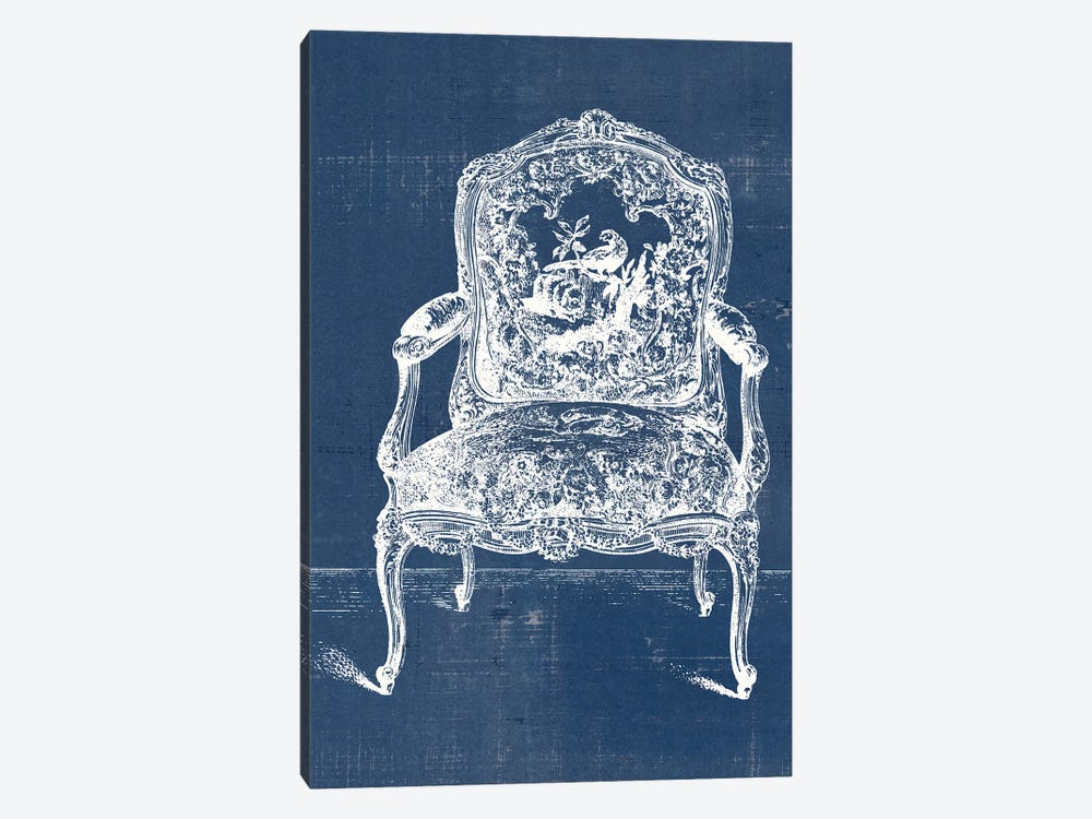 Antique Chair Blueprint V by Vision Studio 1-piece Canvas Art