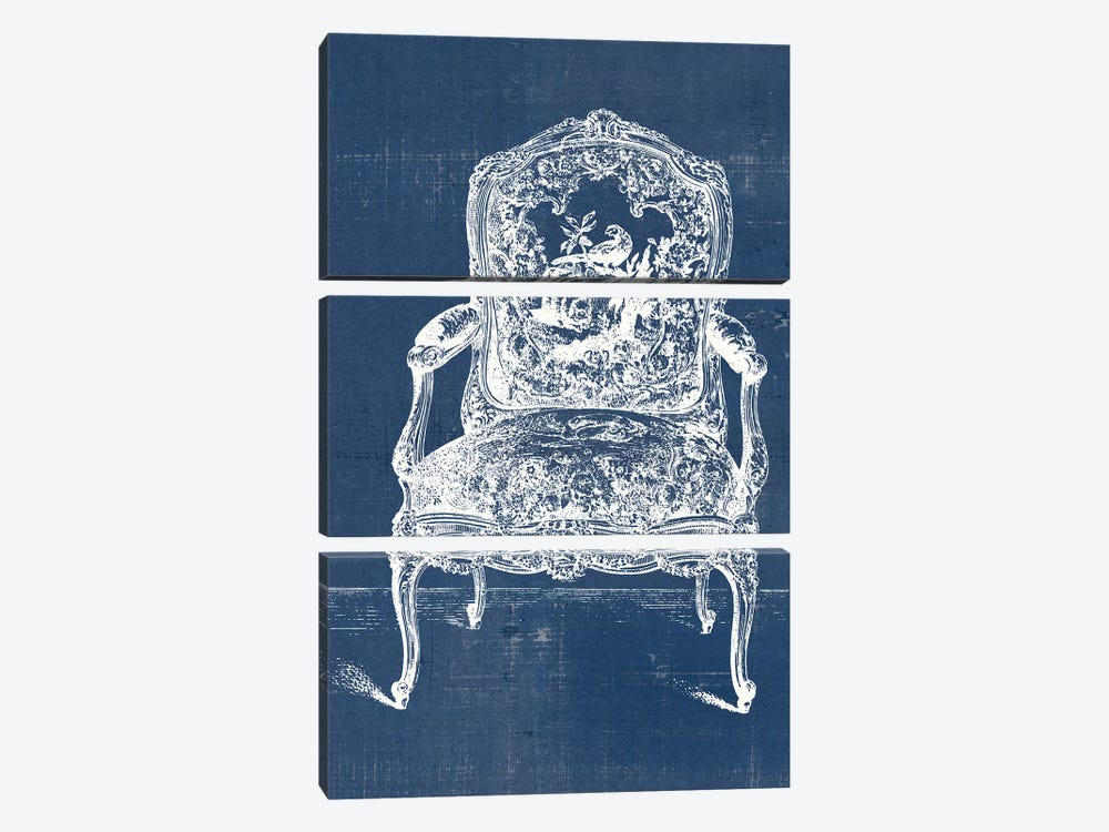Antique Chair Blueprint V by Vision Studio 3-piece Canvas Art