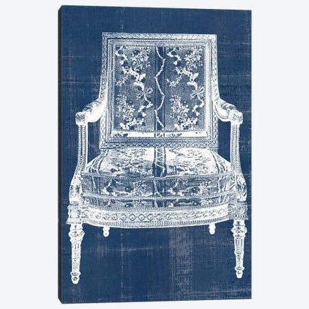 Antique Chair Blueprint VI Canvas Print #VSN504} by Vision Studio Canvas Art