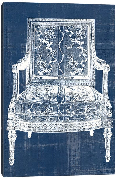 Antique Chair Blueprint VI Canvas Art Print