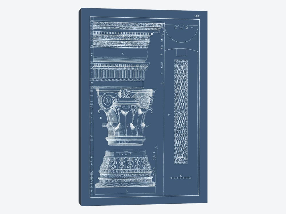 Column & Cornice Blueprint I by Vision Studio 1-piece Art Print