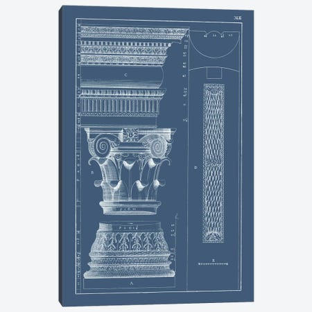Column & Cornice Blueprint I Canvas Print #VSN513} by Vision Studio Canvas Art