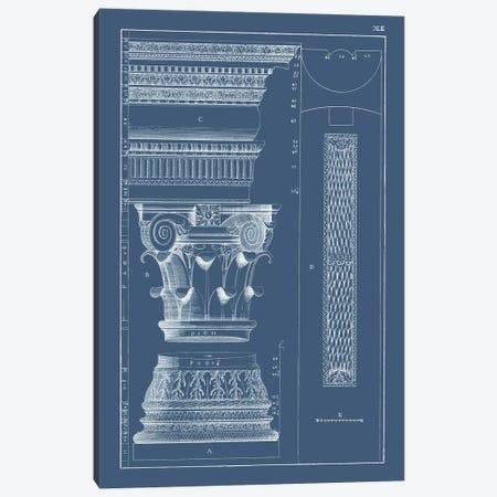 Column & Cornice Blueprint I Canvas Print #VSN513} by Vision Studio Canvas Art