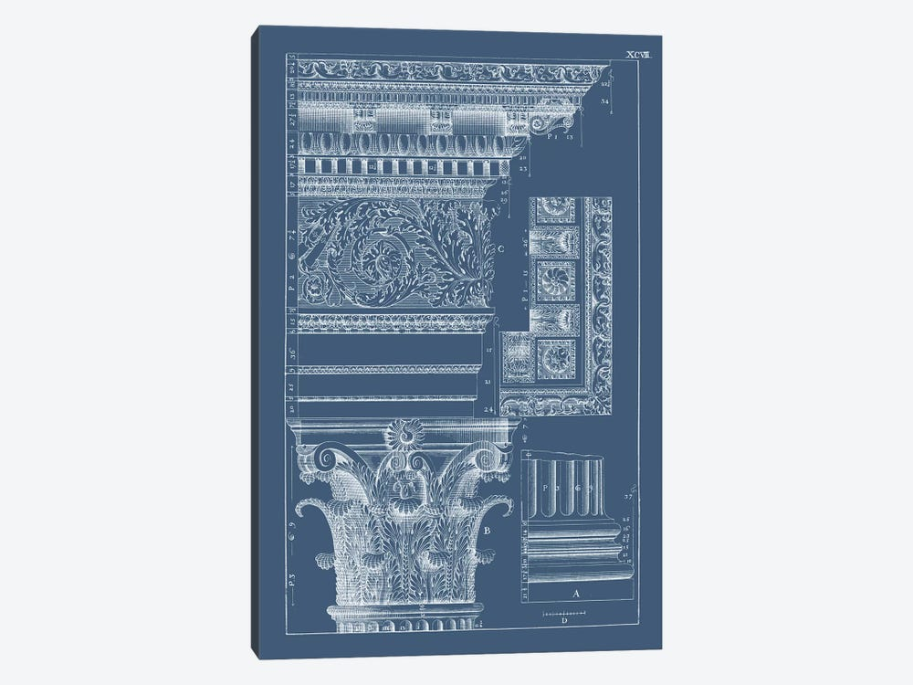 Column & Cornice Blueprint II by Vision Studio 1-piece Canvas Art