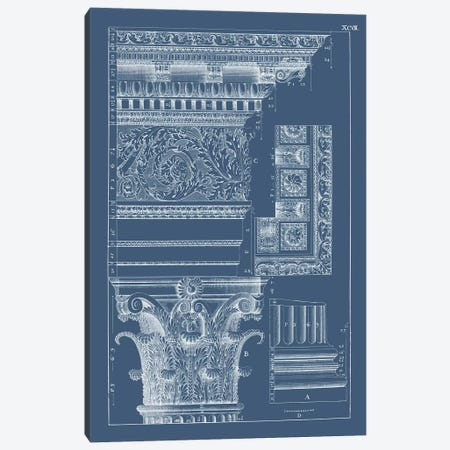 Column & Cornice Blueprint II Canvas Print #VSN514} by Vision Studio Canvas Art Print