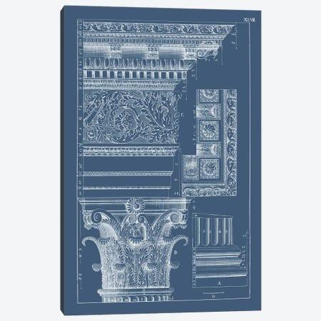 Column & Cornice Blueprint II Canvas Print #VSN514} by Vision Studio Canvas Art Print