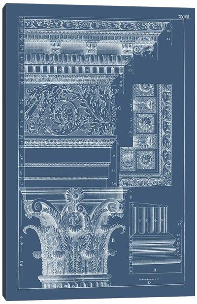 Column & Cornice Blueprint II Canvas Art Print