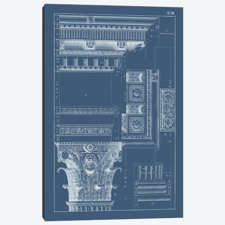 Column & Cornice Blueprint III Canvas Print #VSN515} by Vision Studio Art Print