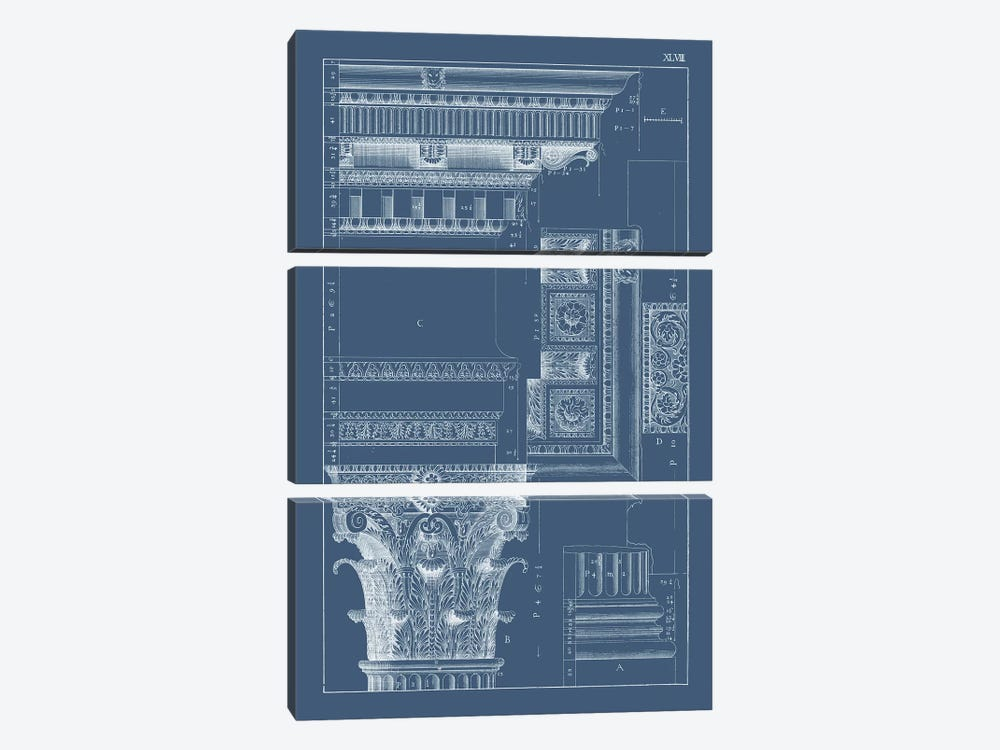 Column & Cornice Blueprint III by Vision Studio 3-piece Art Print