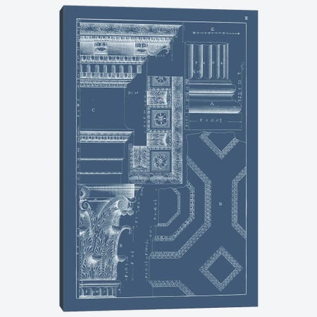 Column & Cornice Blueprint IV Canvas Print #VSN516} by Vision Studio Art Print