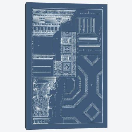 Column & Cornice Blueprint IV Canvas Print #VSN516} by Vision Studio Art Print