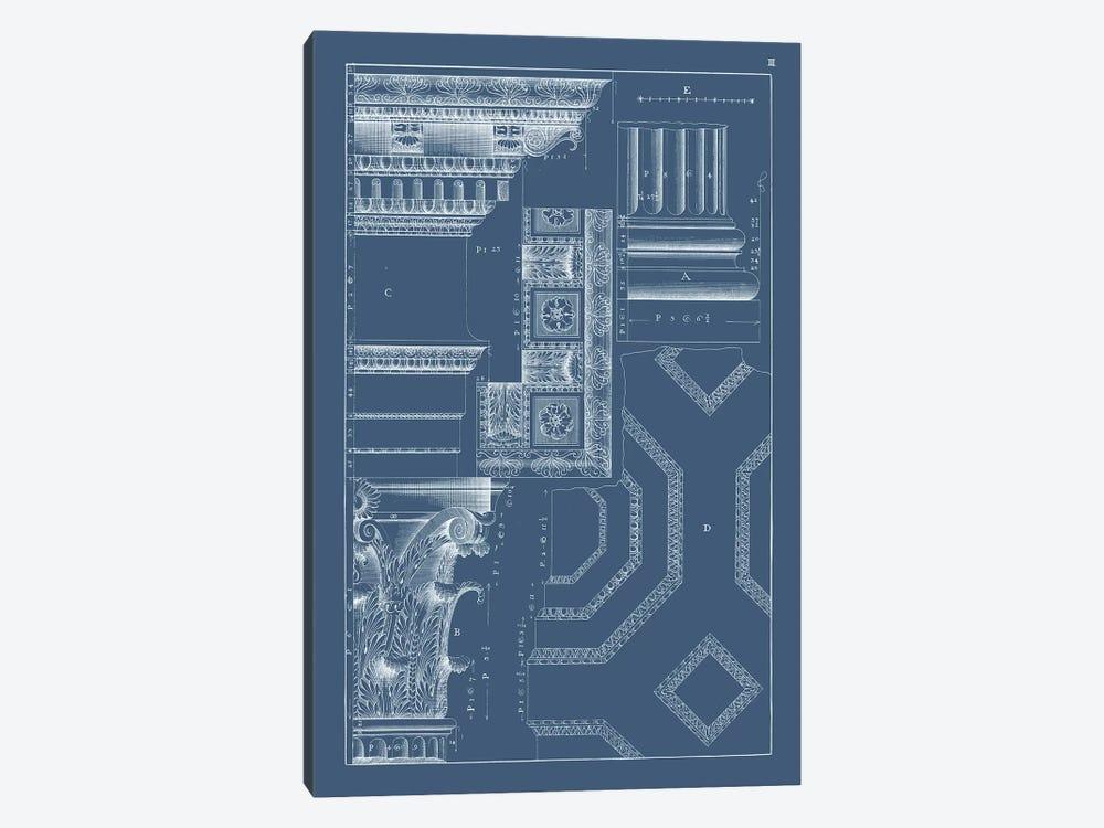 Column & Cornice Blueprint IV by Vision Studio 1-piece Canvas Wall Art