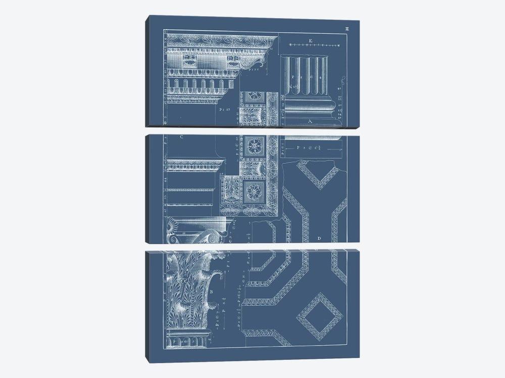 Column & Cornice Blueprint IV by Vision Studio 3-piece Canvas Artwork