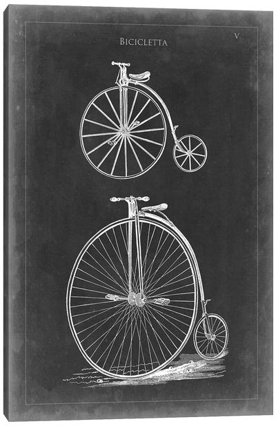 Vintage Bicycles I Canvas Art Print