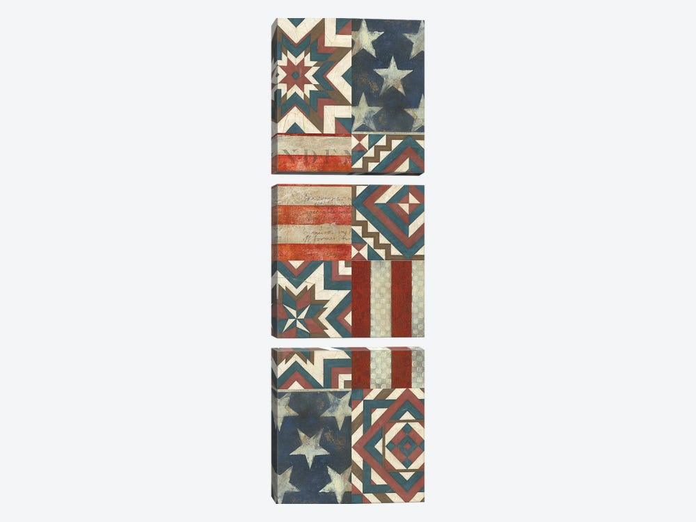 American Quilt J by Vision Studio 3-piece Canvas Print